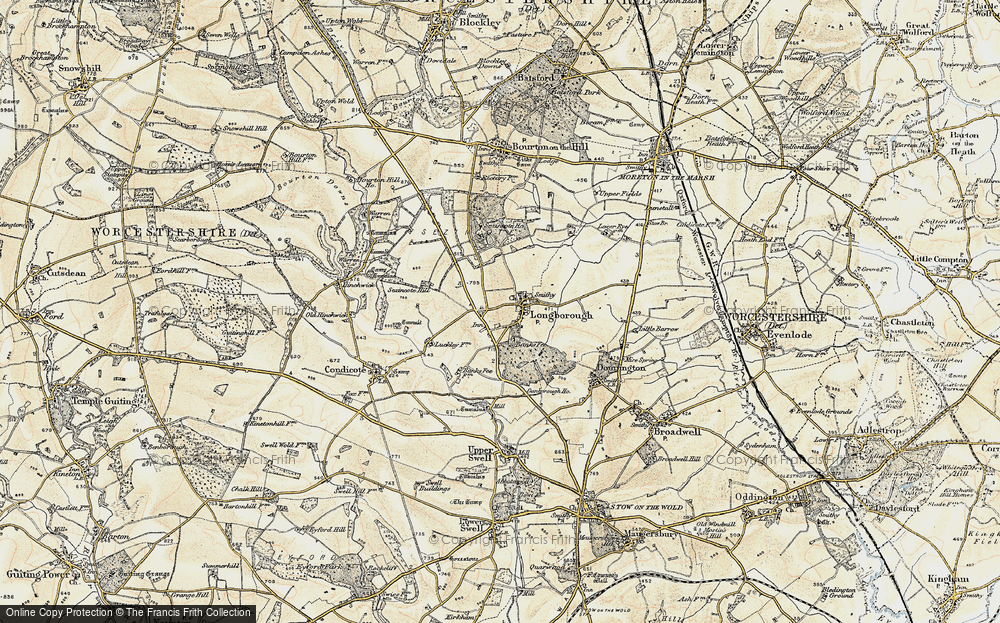 Old Map of Historic Map covering Banks Fee in 1899