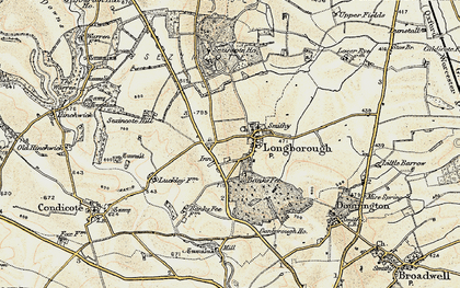 Old map of Banks Fee in 1899