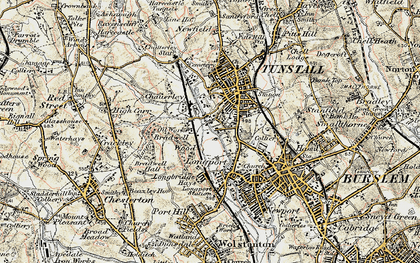 Old map of Westport Lake in 1902