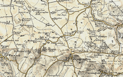 Old map of Ballidonmoor in 1902-1903
