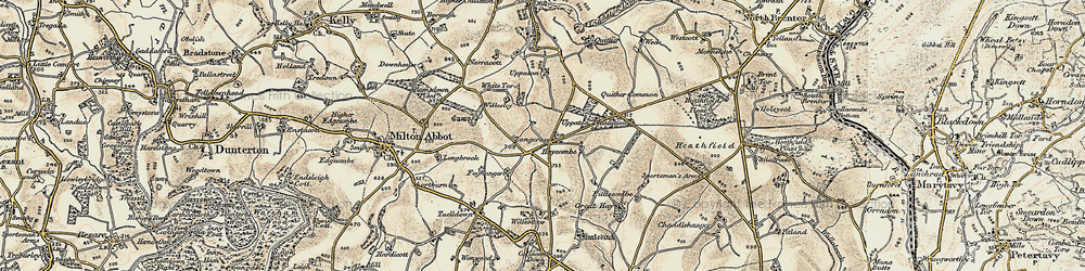 Old map of Willestrew Park in 1899-1900