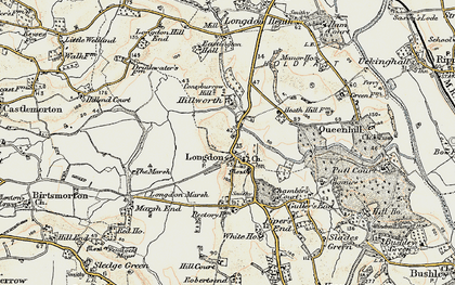 Old map of Longdon in 1899-1901