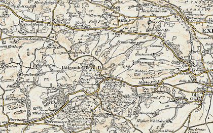 Old map of Westwood in 1899-1900