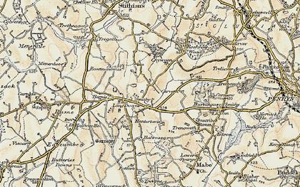 Old map of Longdowns in 1900