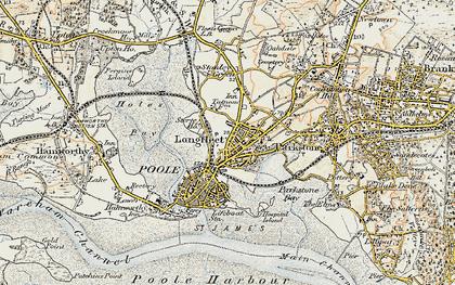 Old map of Longfleet in 1899-1909