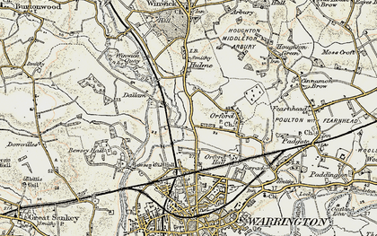 Old map of Longford in 1903