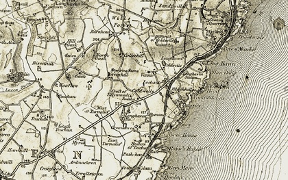 Old map of Yoag's Haven in 1909-1910