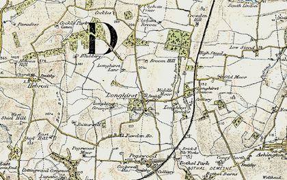 Old map of Longhirst in 1901-1903