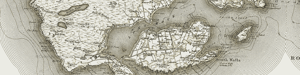 Old map of Aithsdale in 1912