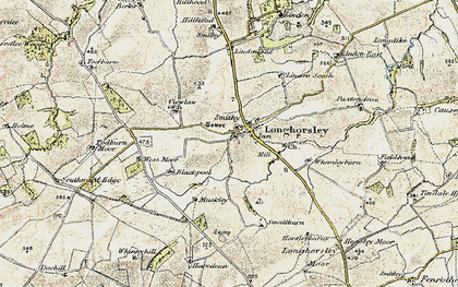 Old map of Todburn Moor in 1901-1903