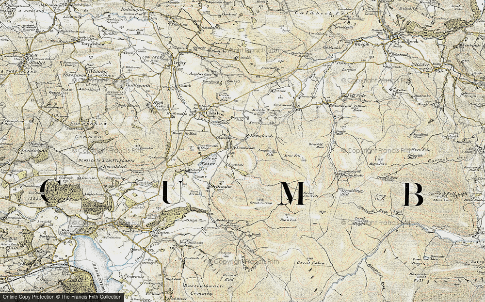 Old Map of Historic Map covering Baggra Yeat in 1901-1904