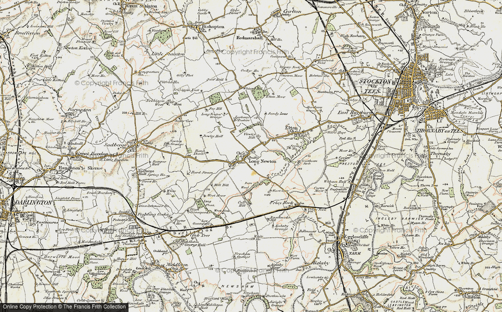 Old Map of Historic Map covering Larberry Pastures in 1903-1904