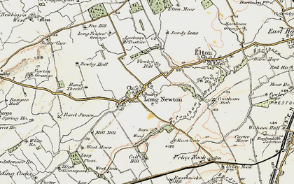 Old map of Larberry Pastures in 1903-1904