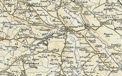 Old map of Longnor in 1902-1903