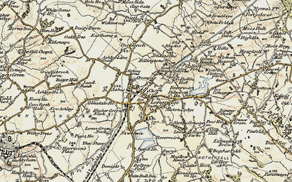 Old map of Alston Lodge in 1903-1904