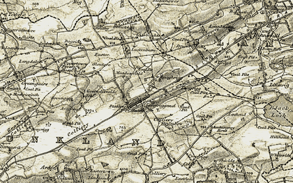 Old map of Todsbughts in 1904-1905