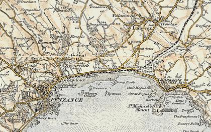 Old map of Longrock in 1900