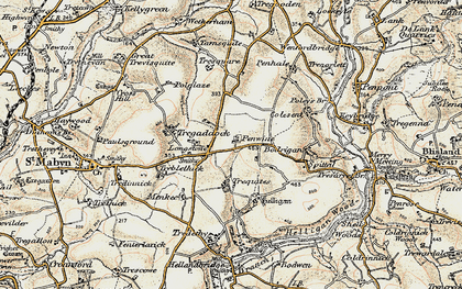 Old map of Longstone in 1900