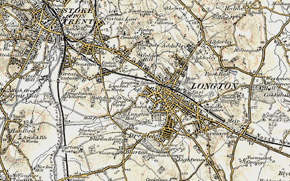 Old map of Longton in 1902