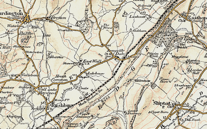 Old map of Wilderhope Manor in 1902