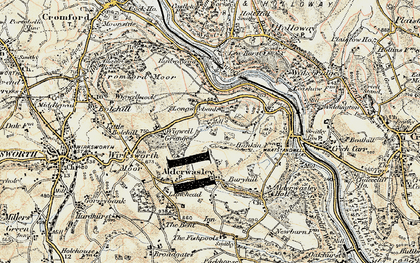 Old map of Longway Bank in 1902-1903