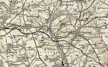 Old map of Looe Mills in 1900