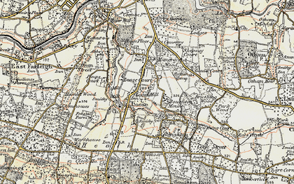 Old map of Loose in 1897-1898