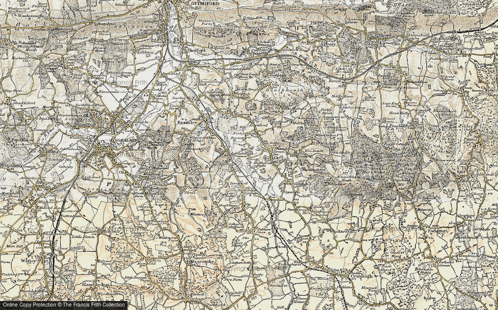 Old Map of Historic Map covering Woodhill in 1897-1909