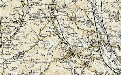 Old map of Loscoe in 1902