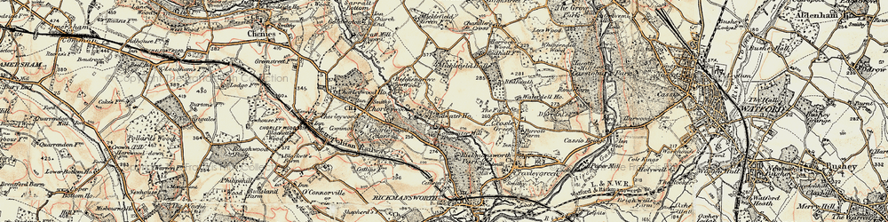 Old map of Thurlwood Ho in 1897-1898