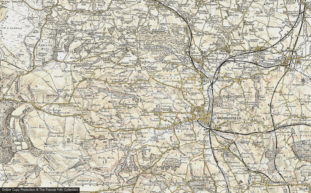 Old Map of Loundsley Green, 1902-1903 in 1902-1903
