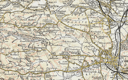Old map of Loundsley Green in 1902-1903