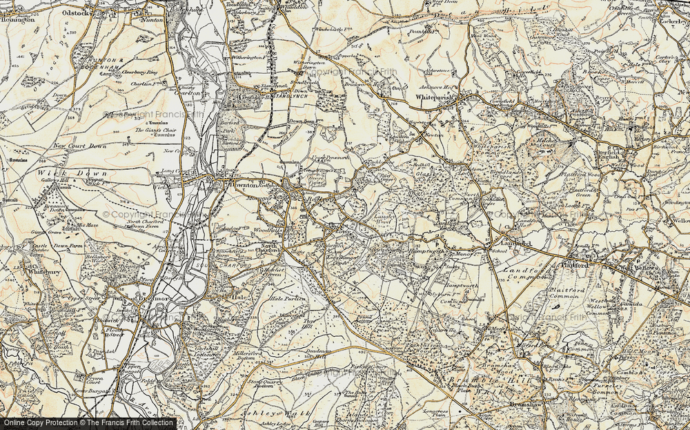 Old Map of Historic Map covering Langley Wood in 1897-1909