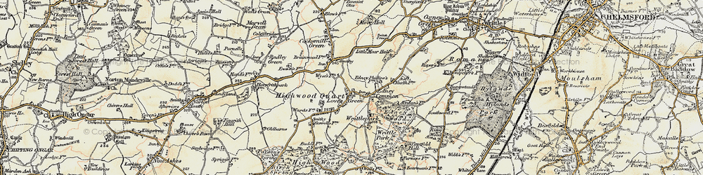 Old map of Wyse's Cottage in 1898