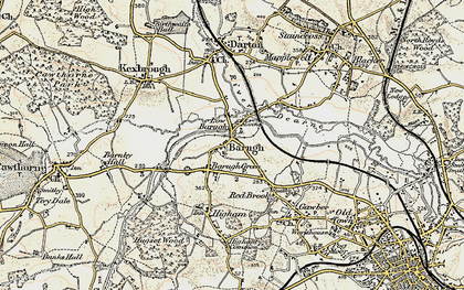 Old map of Low Barugh in 1903
