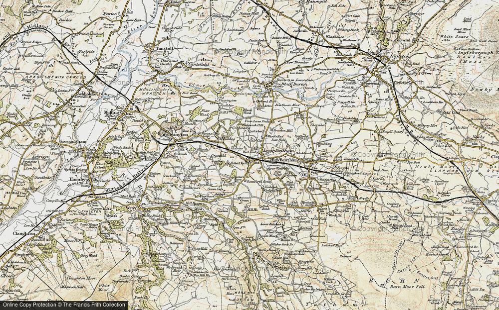 Old Map of Historic Map covering Ashleys in 1903-1904