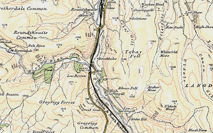 Old map of Whitefold Moss in 1903-1904