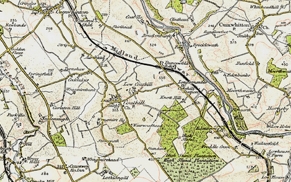 Old map of Wrayside in 1901-1904