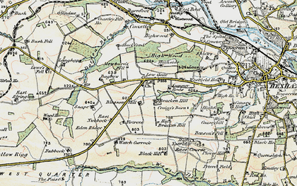 Old map of Leazes in 1901-1904