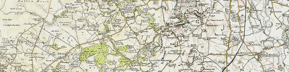 Old map of Wet Car Wood in 1903-1904