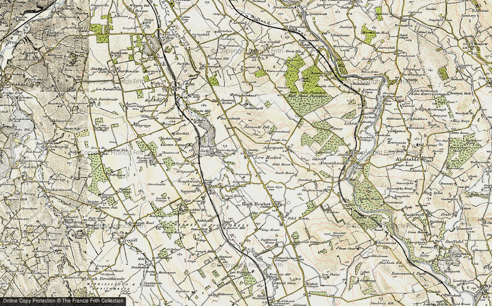 Old Map of Low Hesket, 1901-1904 in 1901-1904
