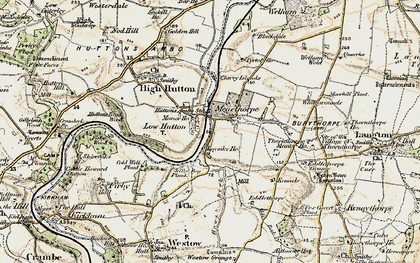 Old map of Low Hutton in 1903-1904