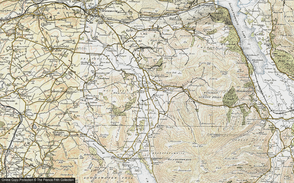 Old Map of Historic Map covering Bank in 1901-1904