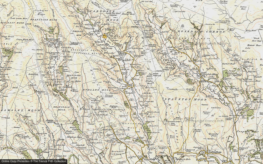 Old Map of Historic Map covering Atkinson Ellers in 1903-1904