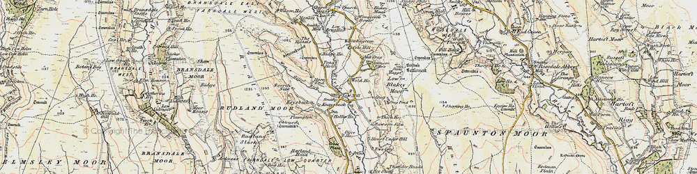 Old map of Wold Hos in 1903-1904
