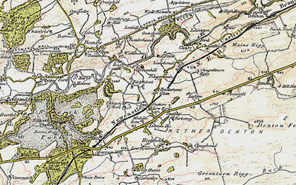 Old map of Baggarah in 1901-1904