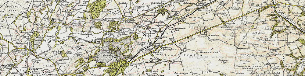 Old map of Allieshaw Rigg in 1901-1904