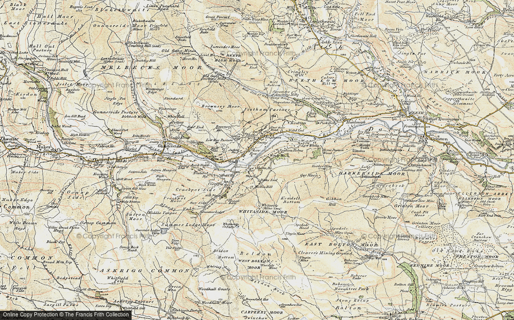Old Map of Low Row, 1903-1904 in 1903-1904