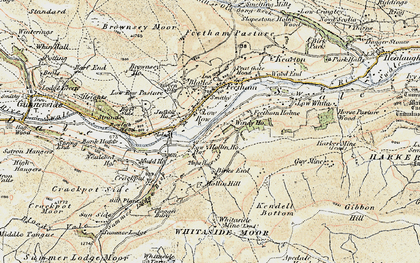Old map of Low Row in 1903-1904
