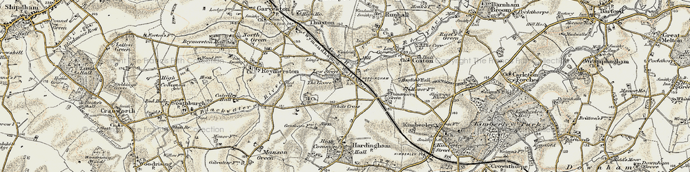 Old map of White Cross in 1901-1902